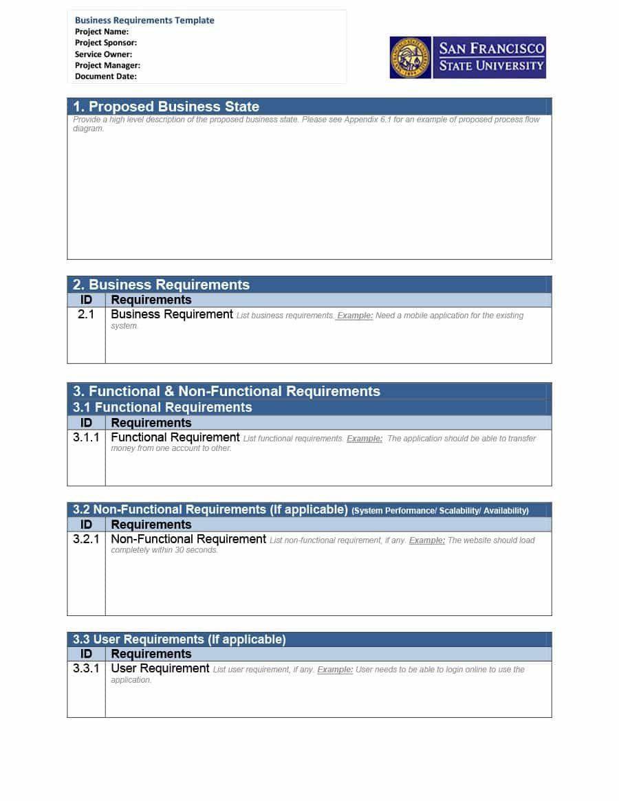 Brd Templates Liebenswert Software Requirements Document Template
