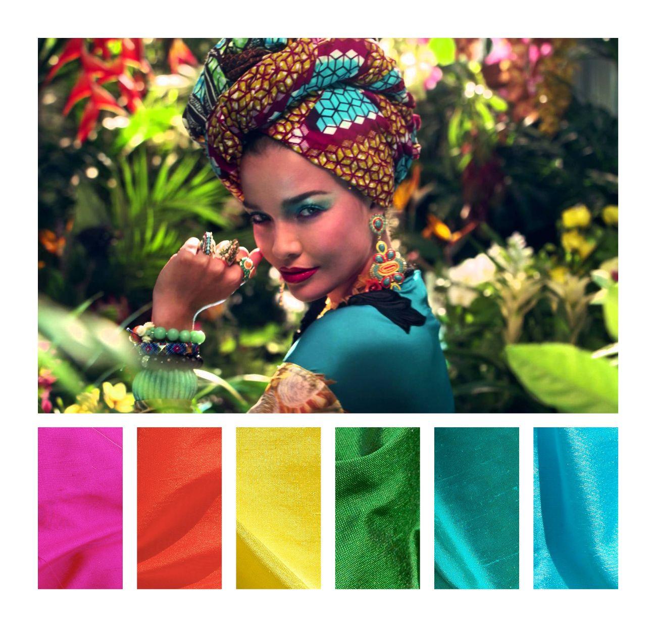 Inspiration tropique | Silk | Inspiration, Color Inspiration et