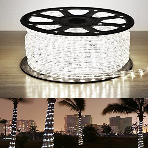 Le ac led rope lights kit warm white waterproof accessories included led crystal clear pvc tubing rope customizable length indoor outdoor rope lighting