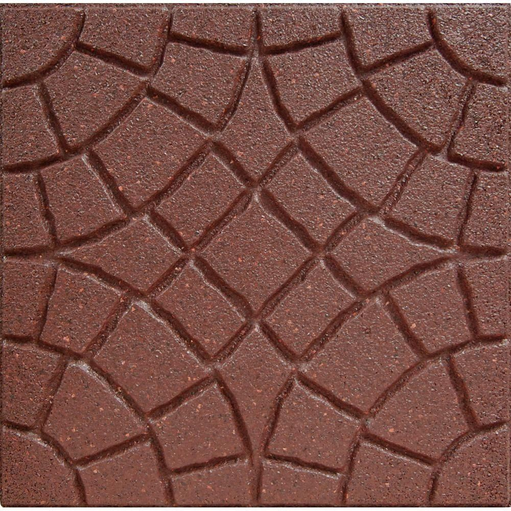 Envirotile 18 In. X 18 In. Bella Rocca Terra Cotta Paver (4 Case) MT5000808  At The Home Depot