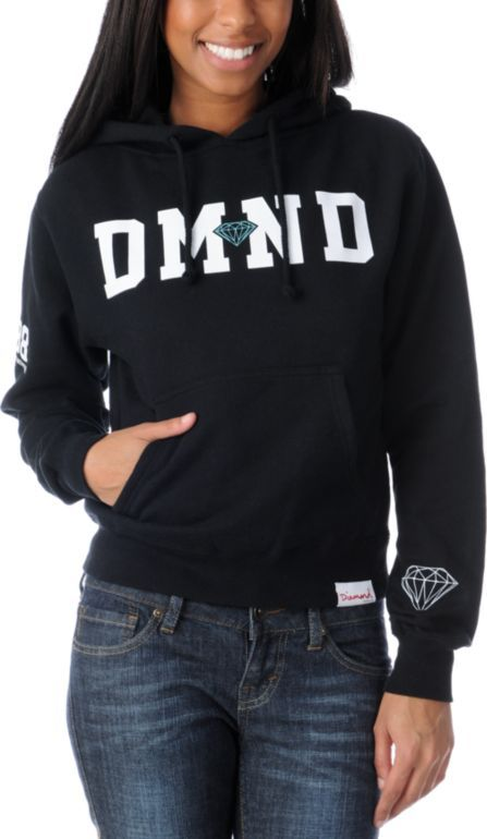 Diamond Supply Girls 98 Black Pullover Hoodie at Zumiez   PDP ... db720a7a03