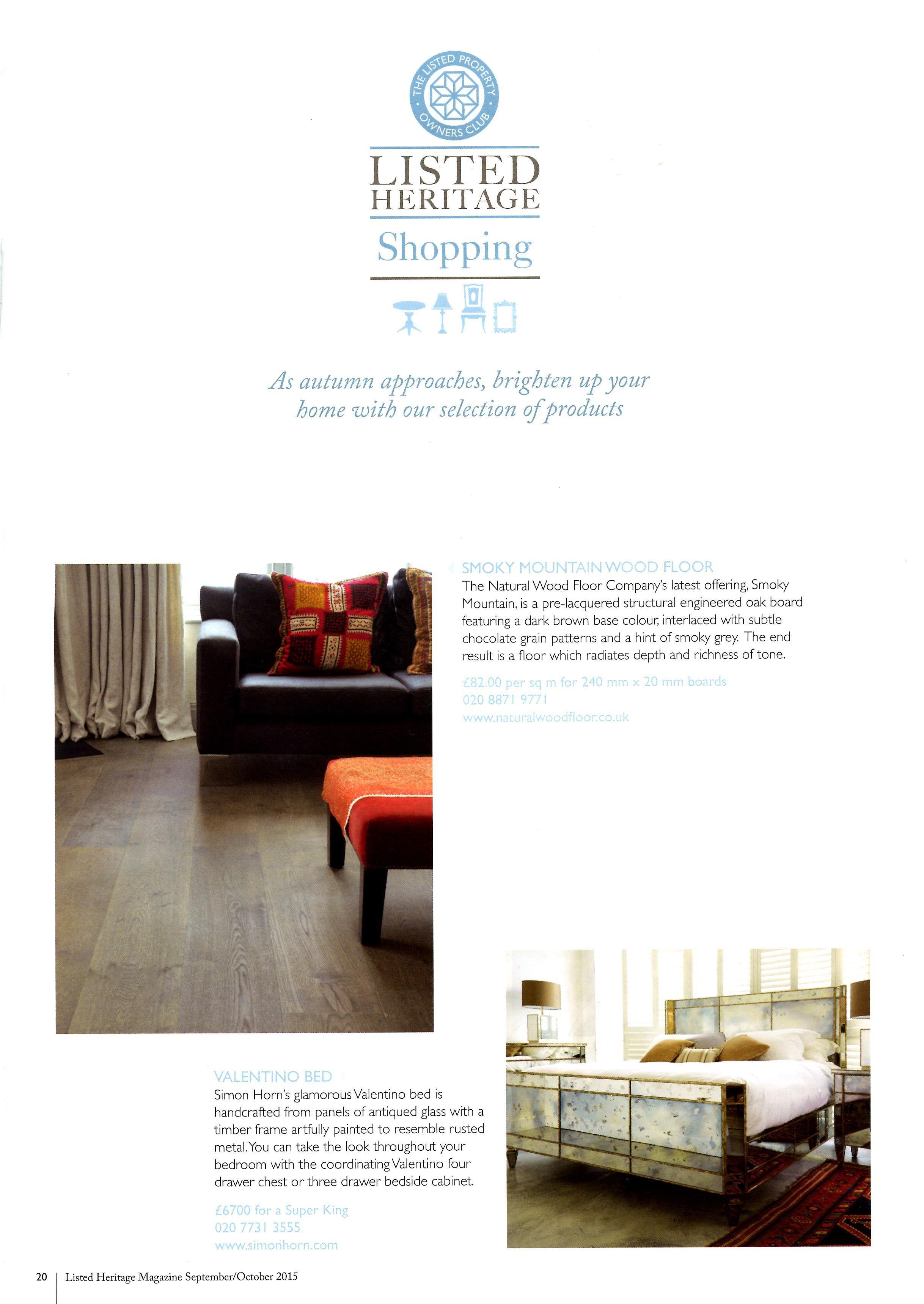 Simon Horn's glamorous mirrored Valentino bed simonhorn.com Listed Heritage October 2015