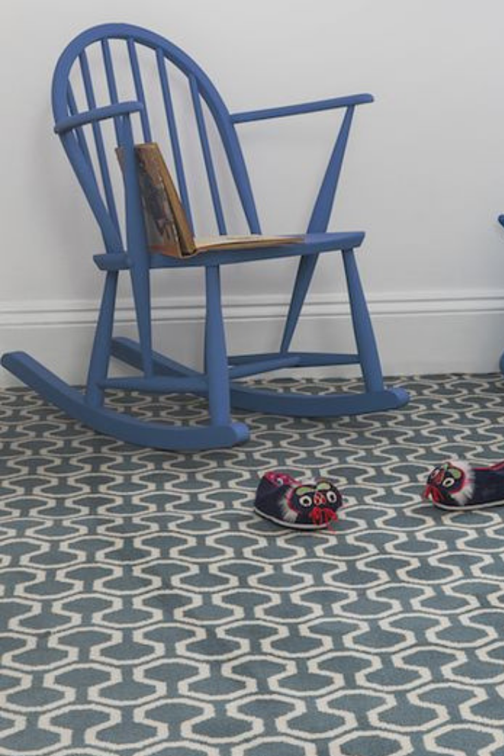 Quirky B Duck Egg patterned Axminster carpet