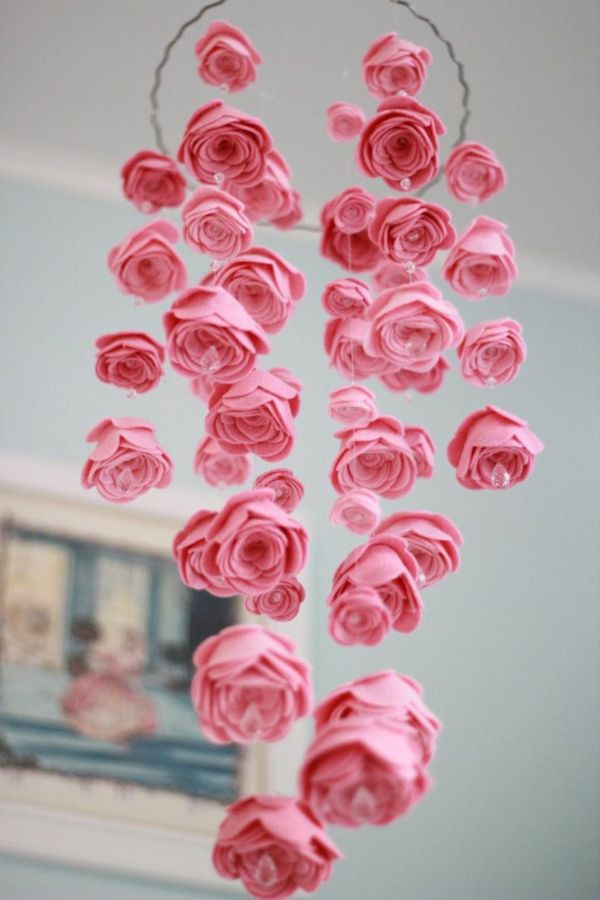 Superior Rosa Rosen Dekoration Für Das Schlafzimmer Nice Ideas