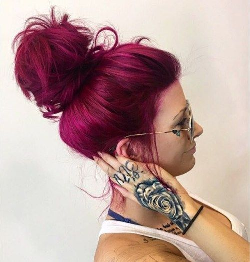 20 Unboring Styles with Magenta Hair Color | Pinterest | Burgundy ...