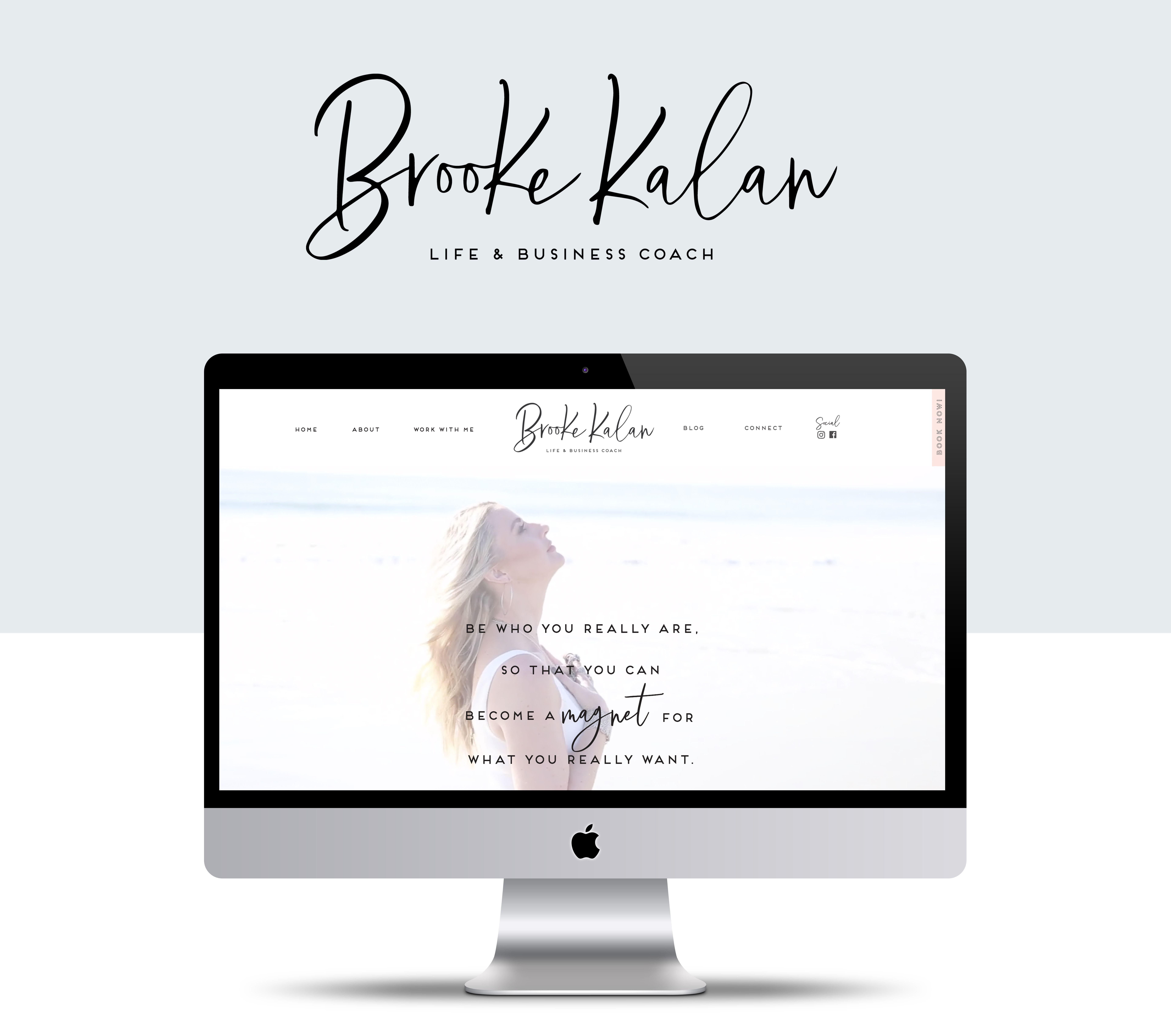 beachy life coach showit website design the best of. Black Bedroom Furniture Sets. Home Design Ideas