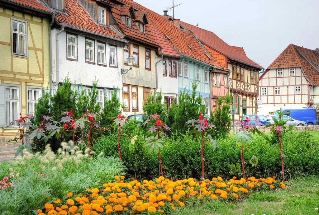Quedlinburg Quedlinburg, Wohnen und garten und Bunte häuser