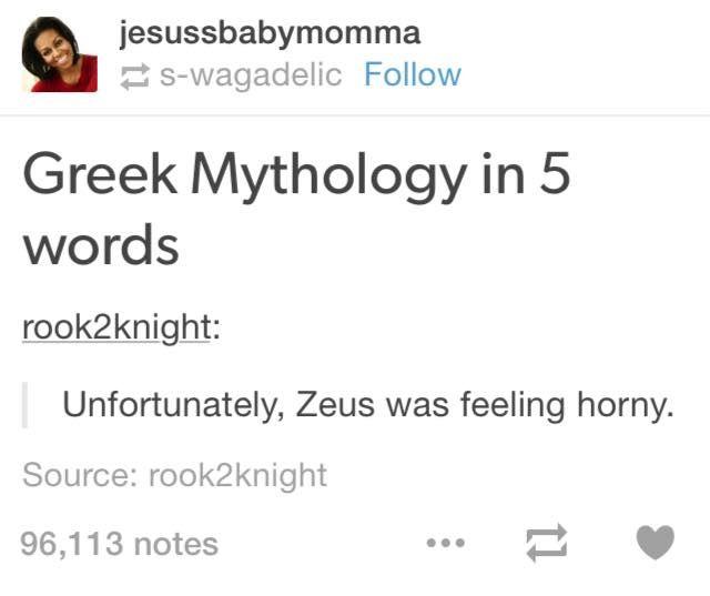 everyone zeus no greek mythology quotes greek memes greek