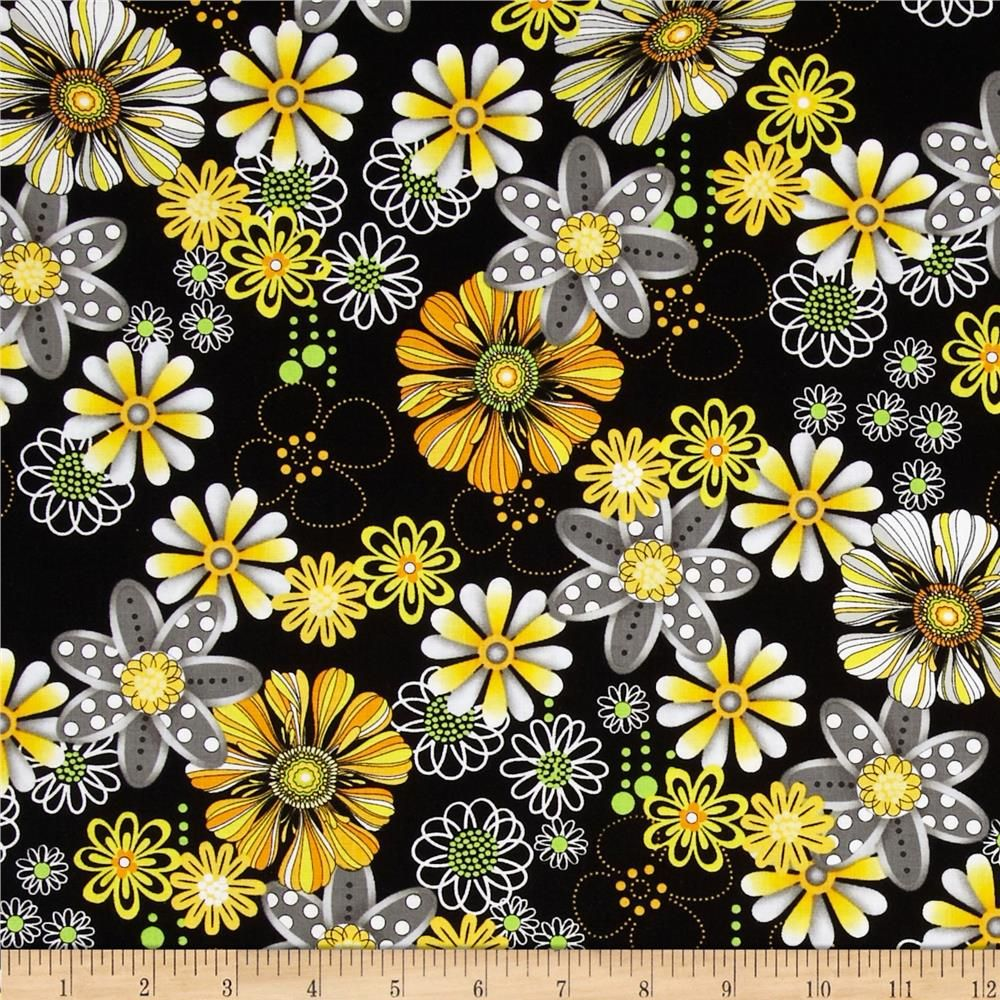 Sundance Daisy Black from @fabricdotcom Designed for Exclusively ...