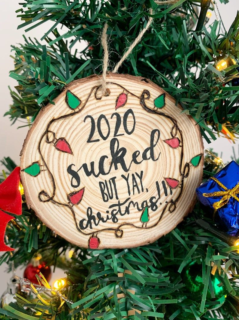 2020 Christmas Ornament 2020 survivor 2020 Wood Slice