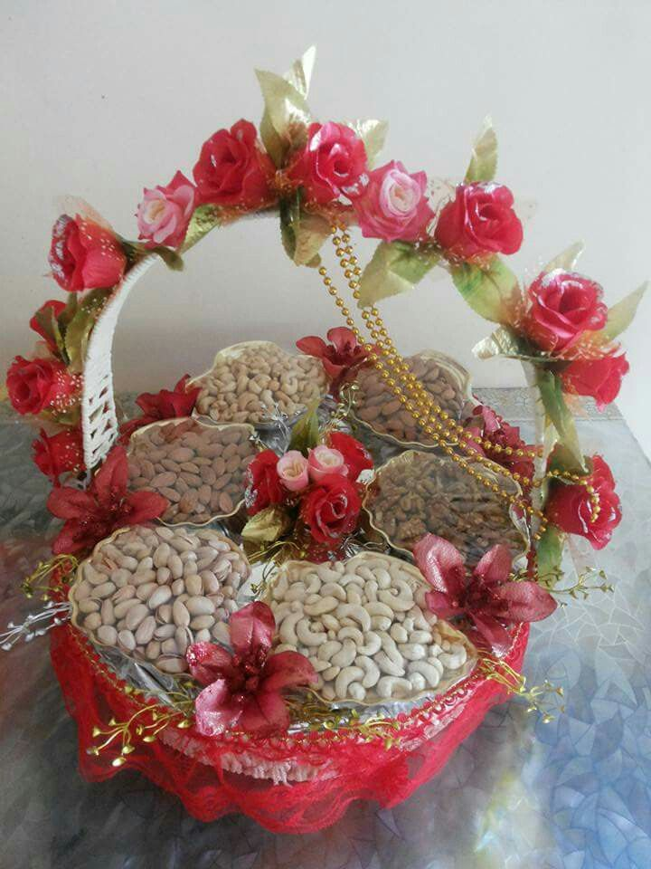 Dry Fruit Gift Wrapping N Box Idea Wedding Gift Wrapping