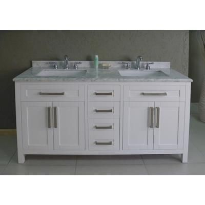 Perfect For Dual Sinks In Either Master Or Kids Bathroom Ove Decors 60 Inch Celeste Vanity Celeste 60 Home Depot Canada