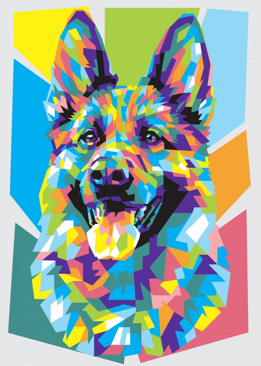 german shepherd poster by dayat