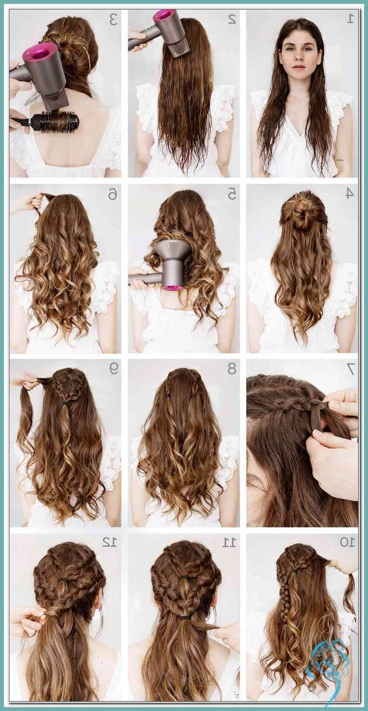 Frisur Locken Halb Offen Anleitung Frisur Ideen Anleitung Frisur Halb Halboffen Ideen Locken O Curls For Long Hair Hair Styles Curled Hairstyles