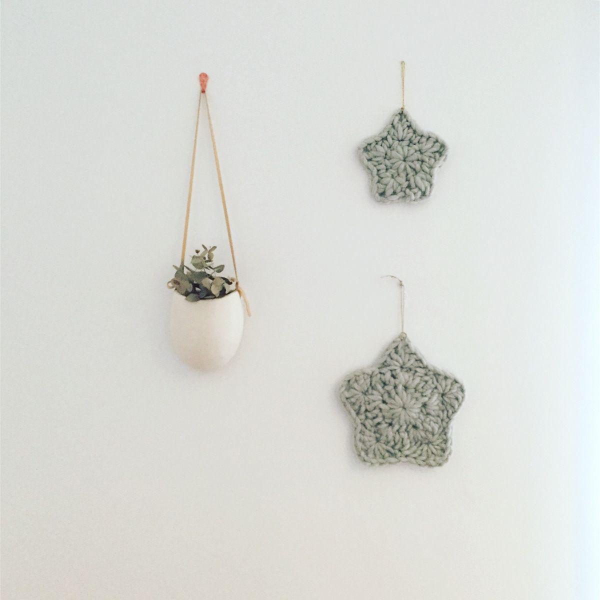 Estrella de decoración navideña de crochet. Patrón gratuito ...