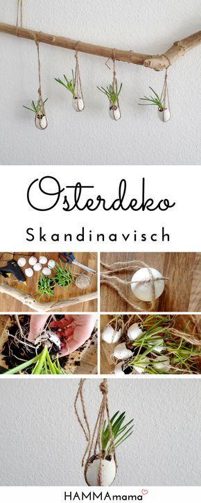 diy deko ast f r ostern selber machen skandinavisch minimalistisch mit blumen diy fr hling. Black Bedroom Furniture Sets. Home Design Ideas