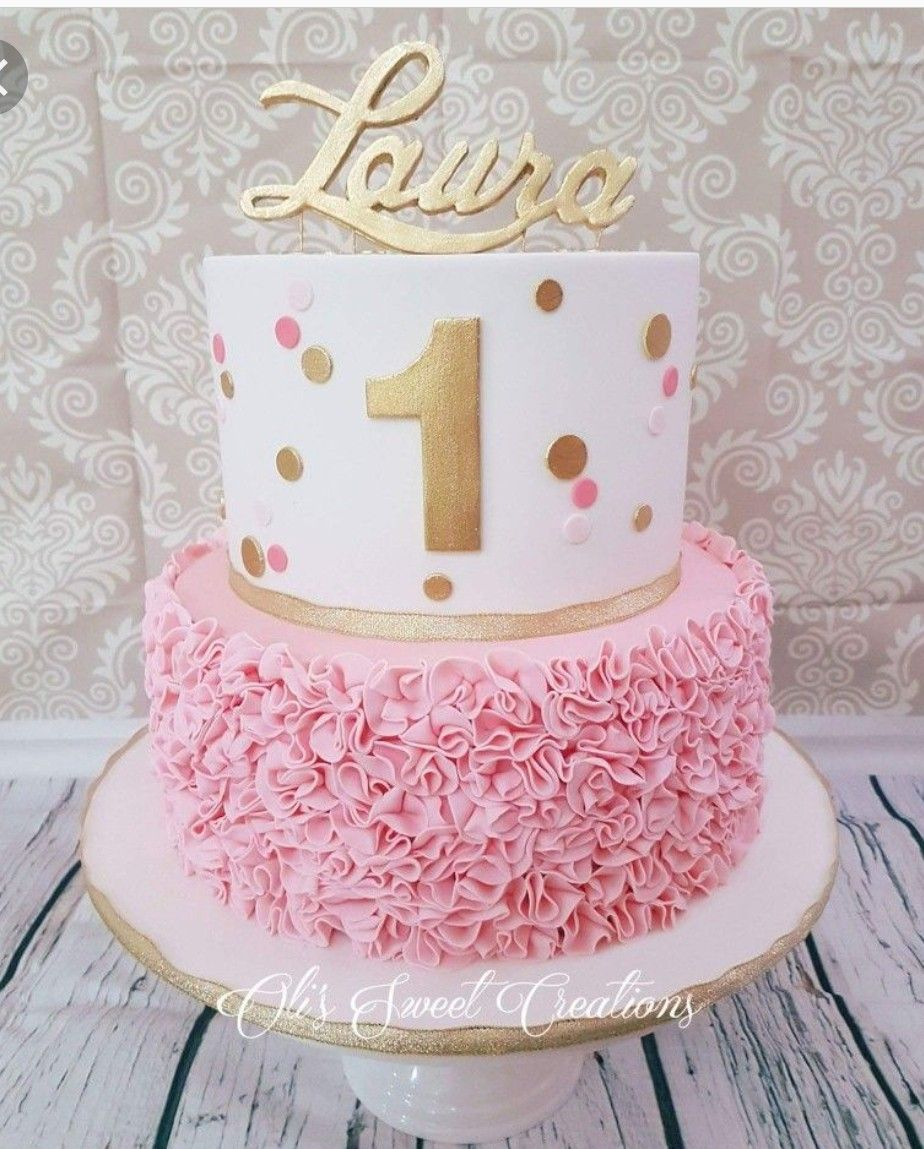 Pin By Heidi Guillory On Cakes Girls First Birthday Cake 1st