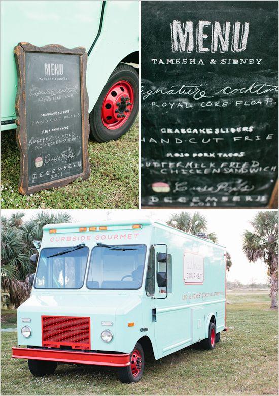 Bohemian Food Truck Wedding With Images Food Truck Menu
