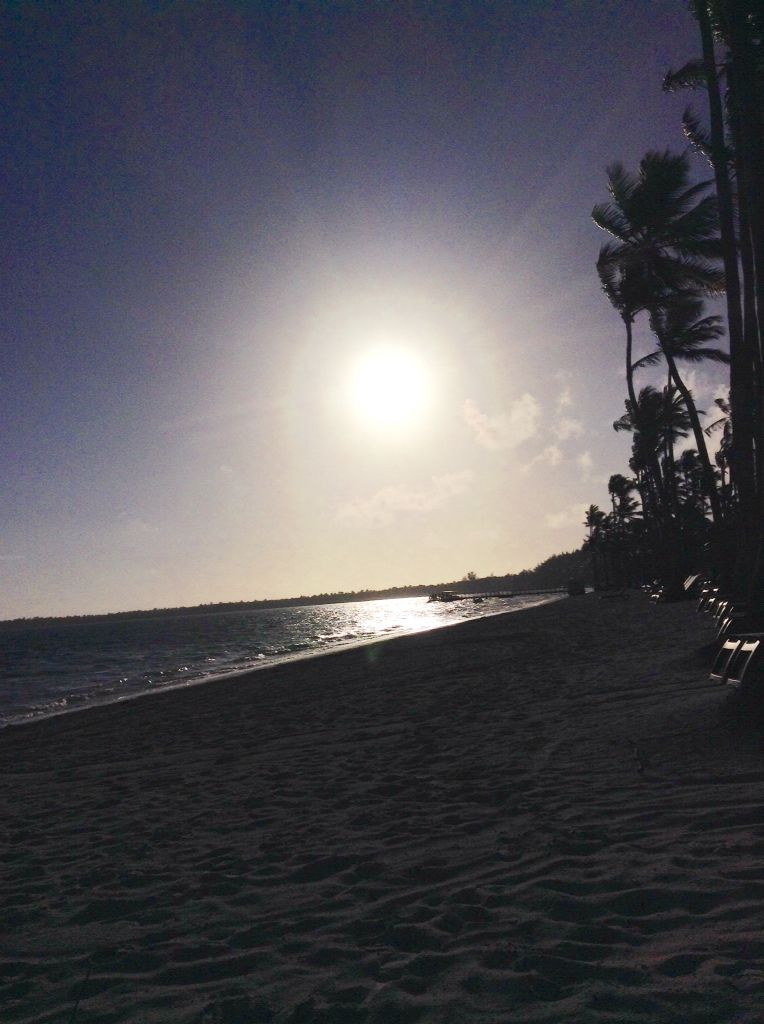 Punta Cana a contraluz
