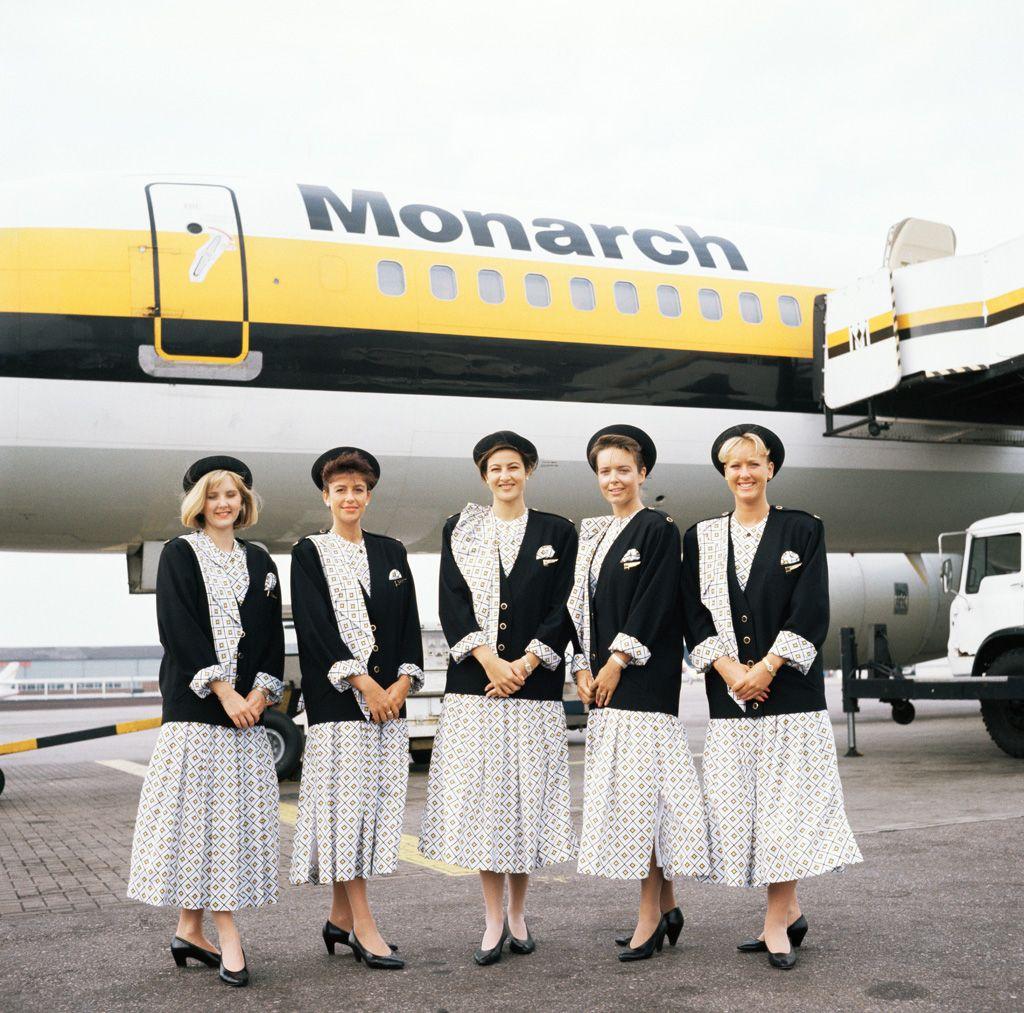 Monarch Air Hostess Uniform Cabin Crew Flight Attendant Uniform