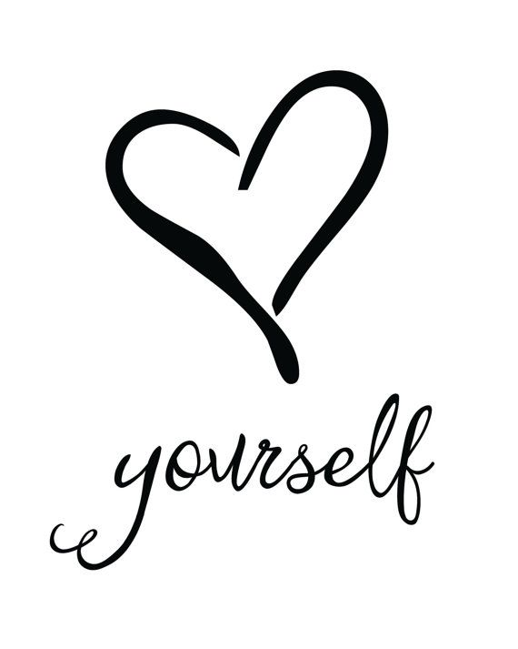Love Yourself Print / Quote Print / Inspirational by MadKittyMedia