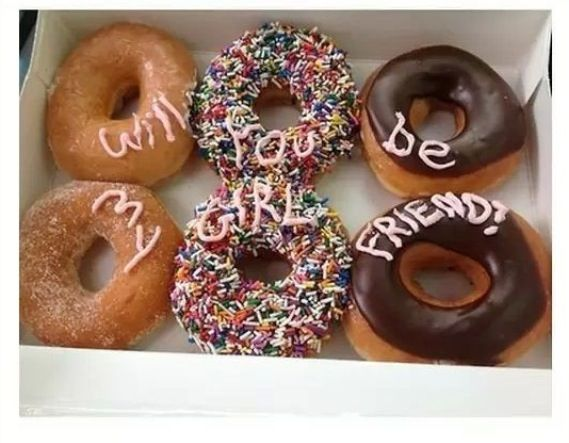 if anyone ever did this for me i'm sorry but i would probably eat them without even glancing at the writing because DONUTSSSS