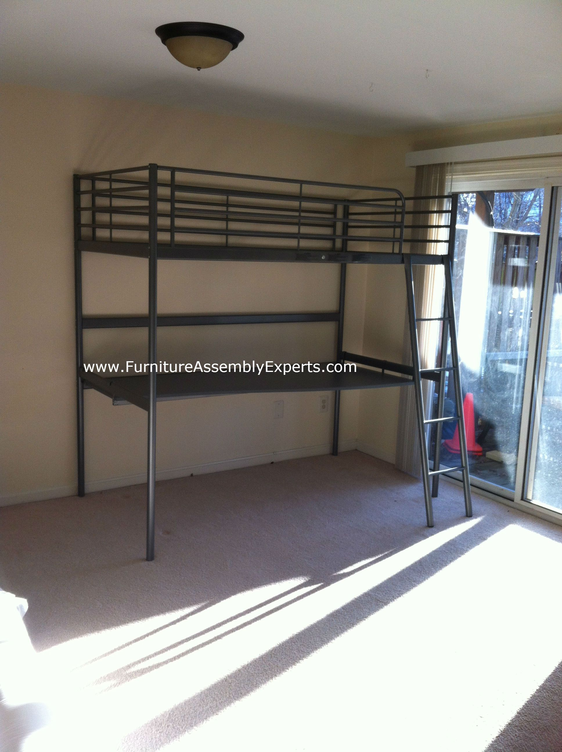 ikea loft bed assembled in delaware by Furniture assembly experts LLC