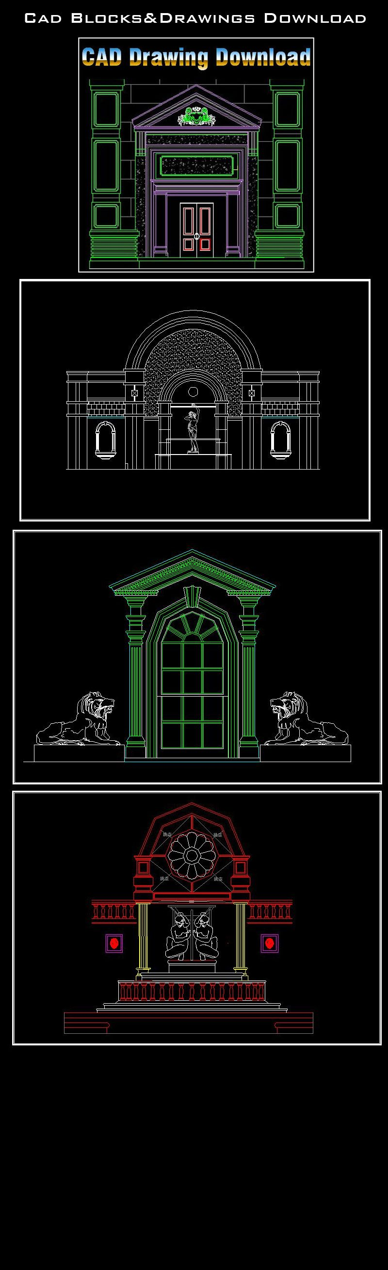 architecture decoration drawing decorative elements carried of