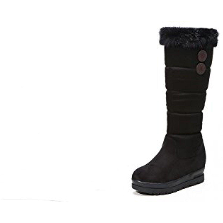 Ladies Platform Heighten Inside Fur Collar Frosted Boots