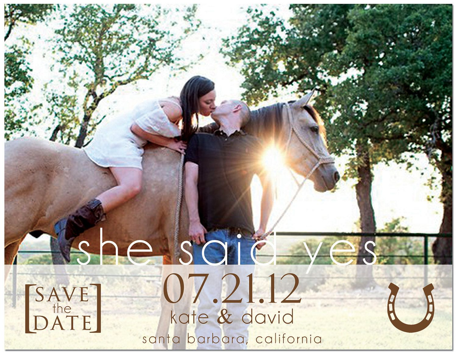 Items Similar To Printable Print Your Own Custom Save The Date Invitation Photo Western Country Theme