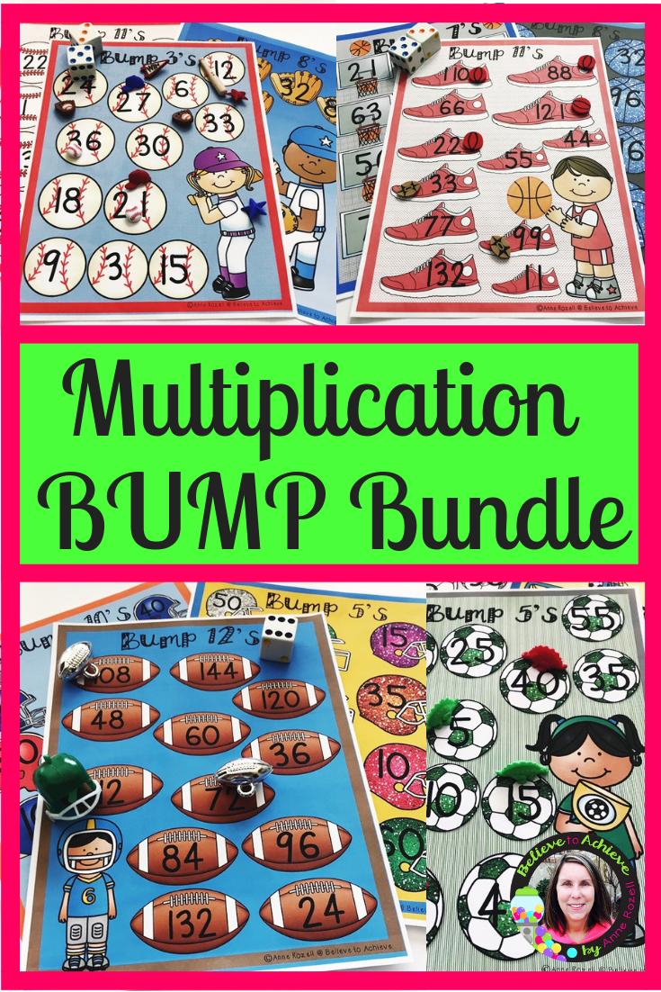 multiplication bump games bundle sports themes multiplication bump games bump games math activities