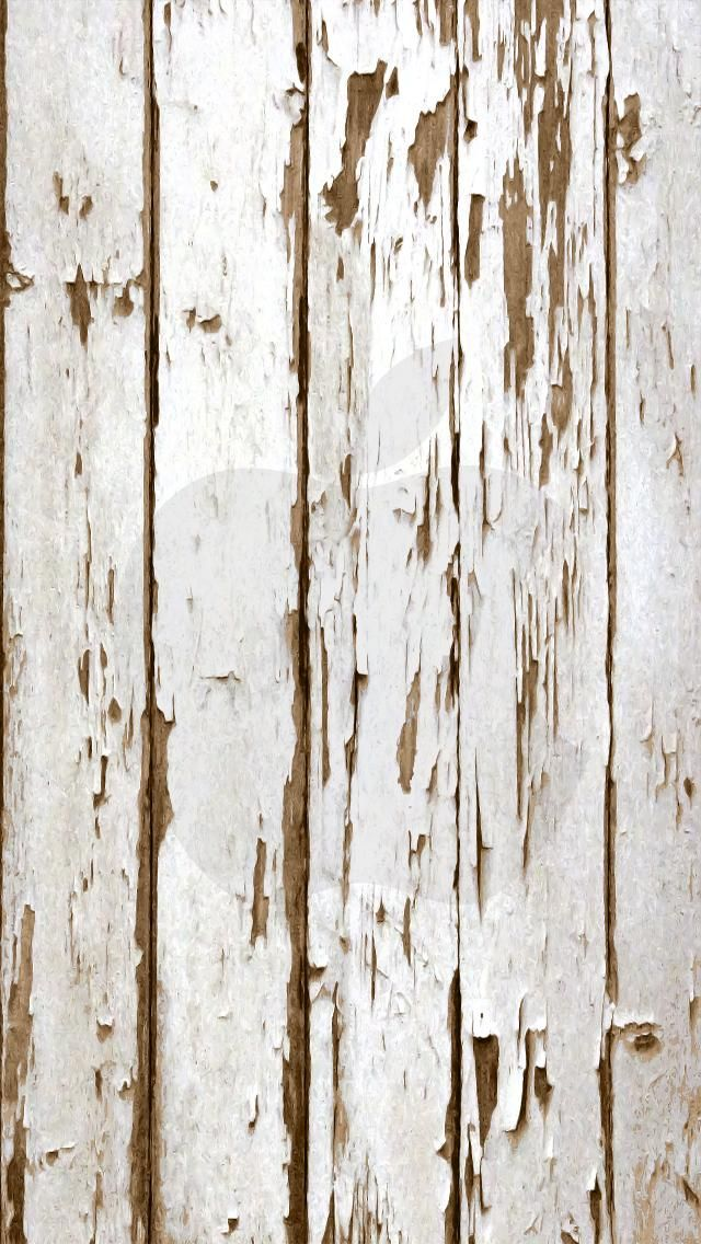 iPhone 5 Wallpaper Apple weathered wood white Wood