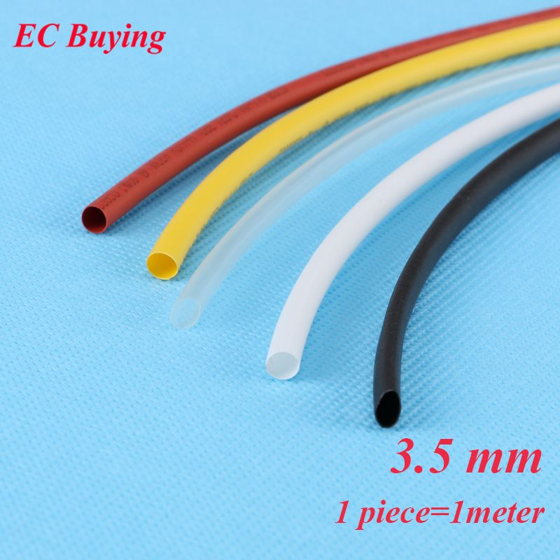 1m Pcs 3 5mm Heat Shrink Tubing Wire Wrap Heat Shrink Tube 2 1 Thermo Jacket Insulation Matierial Black W Heat Shrink Tubing Insulation Materials Heat Shrink