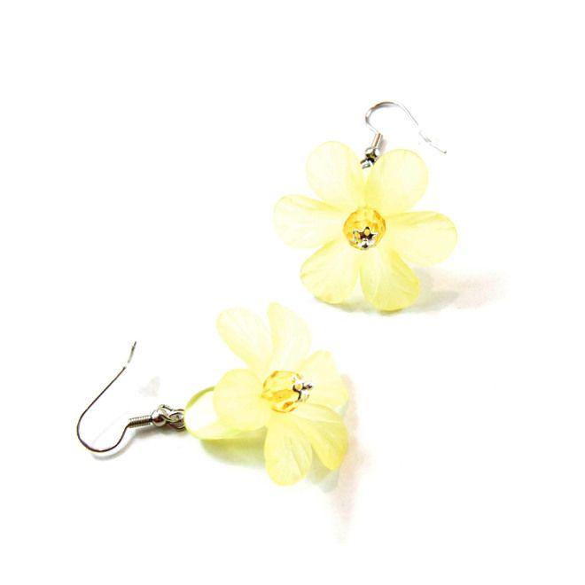 Orecchini Daisy Juice Yellow OOAK handmade only by Daffodil Bijoux