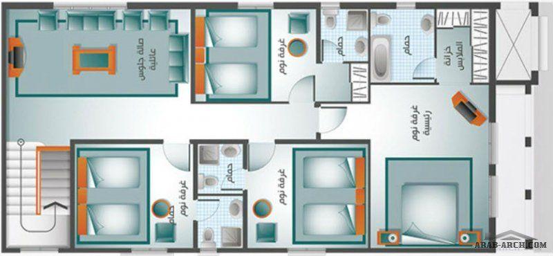 مخطط فيلا اوبال من السويدى هومز 4 غرف نوم ماستر Gallery Wall Wall Floor Plans