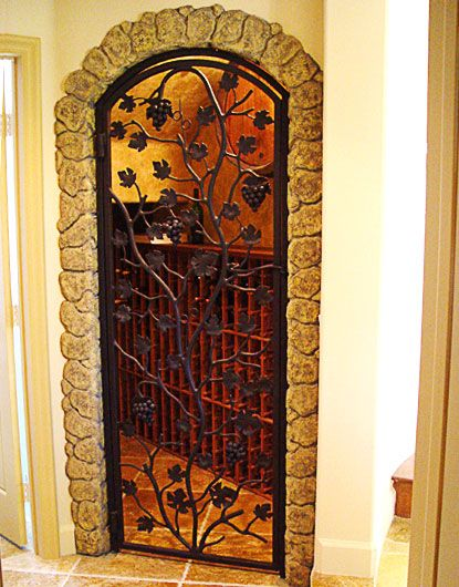 Wrought iron wine cellar doors create a gorgeous entrance to your wine cellar and are available in a wide range of styles including custom designs. & wine cellar door - Google Search   Doors and windows   Pinterest ...