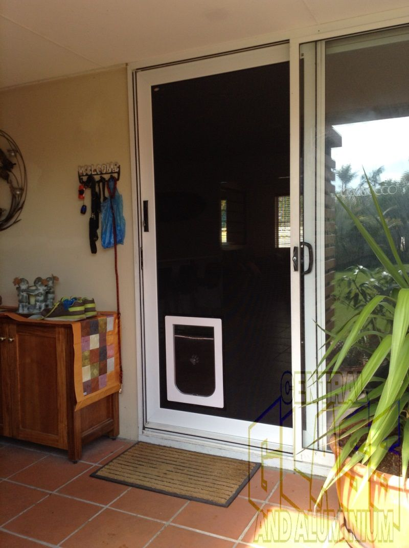 We Often Get Asked If A Dog Door Can Go In To A Crimsafe Screen The Answer Is Of Course Yes Any Crimsafe Securitydoor Or Wi Home Security Door Cat Door