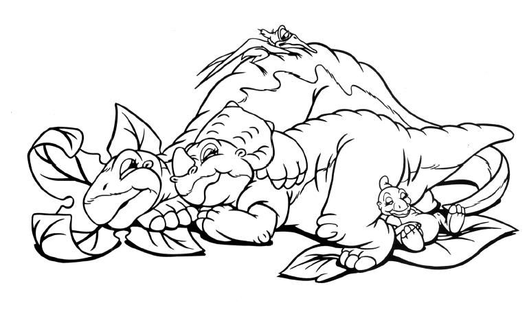 The Land Before Time Coloring Page Kids Printable Coloring Pages