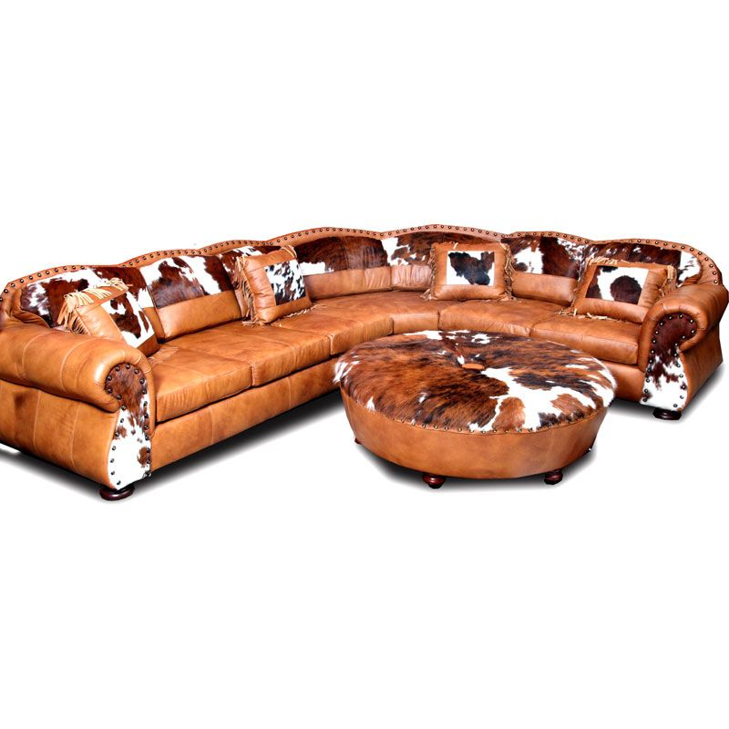 Western Leather Furniture Texas Ranch Leather Sectional Sofa W