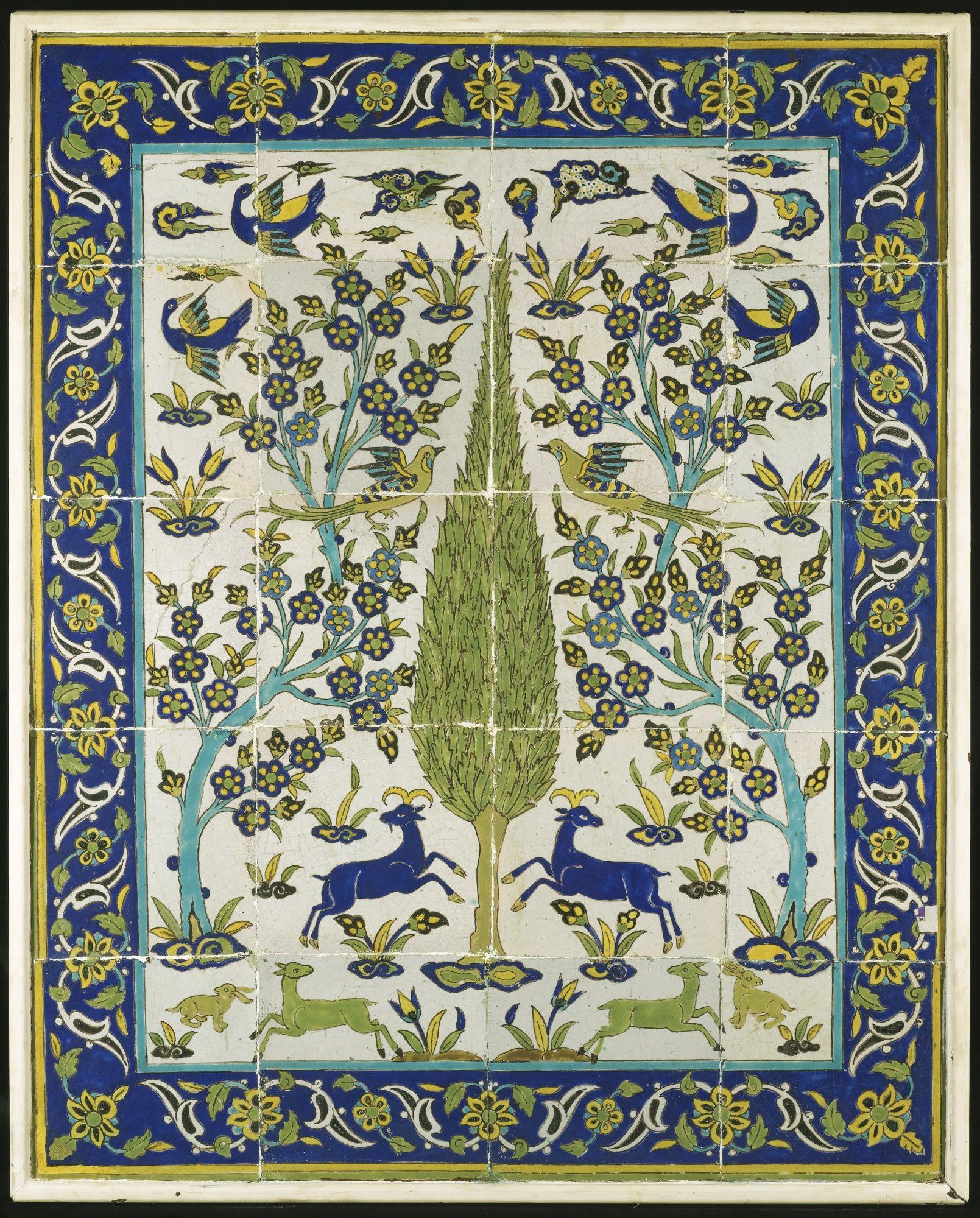 A Safavid Cuerda Seca Tile Panel, Persia, 18th Century | Safavid Art