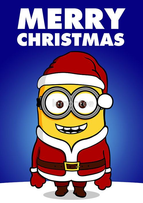 Santa Minion Merry Christmas With Images Minion Christmas