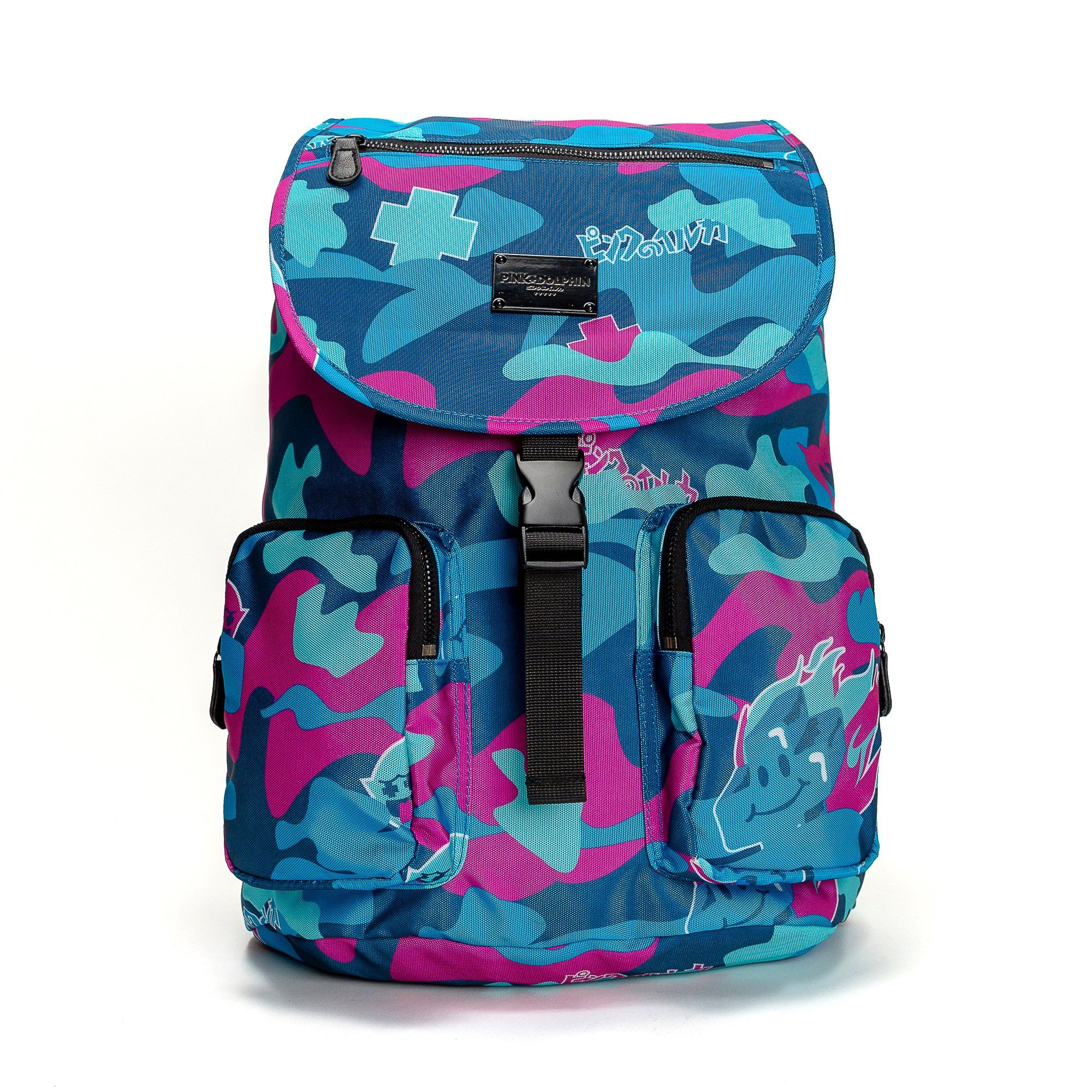 cad09db78a55 Camo Backpack in Super Ocean – Pink+Dolphin