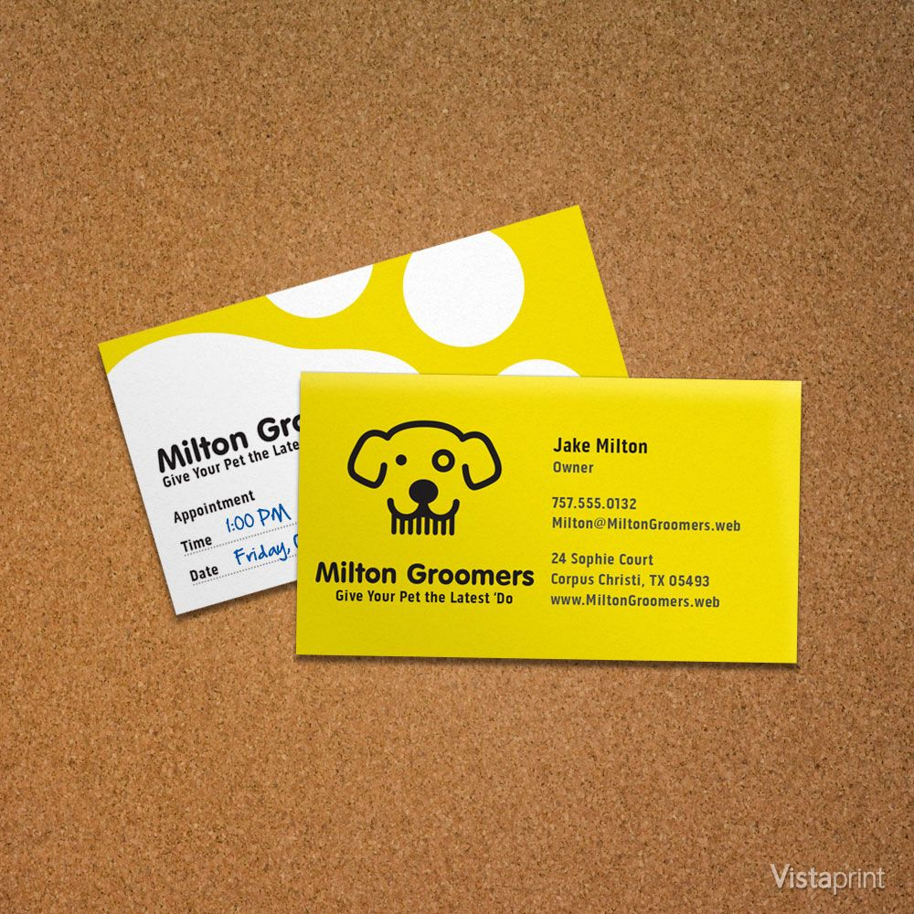 Yellow Dog Business Card | Vistaprint | Cute Animals | Pinterest ...