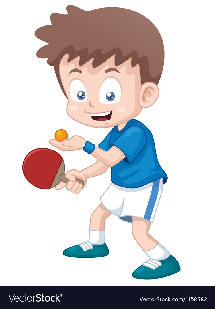 Table Tennis Player Vector Image On Vectorstock Table Tennis Player Table Tennis Tennis Art