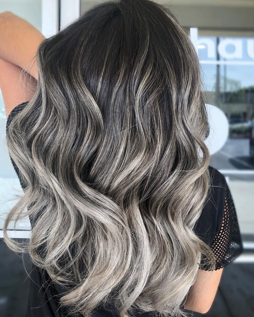 "Frances Canola's Instagram photo: ""Ash Silvery Balayage 🌪 . @kenraprofessional SV