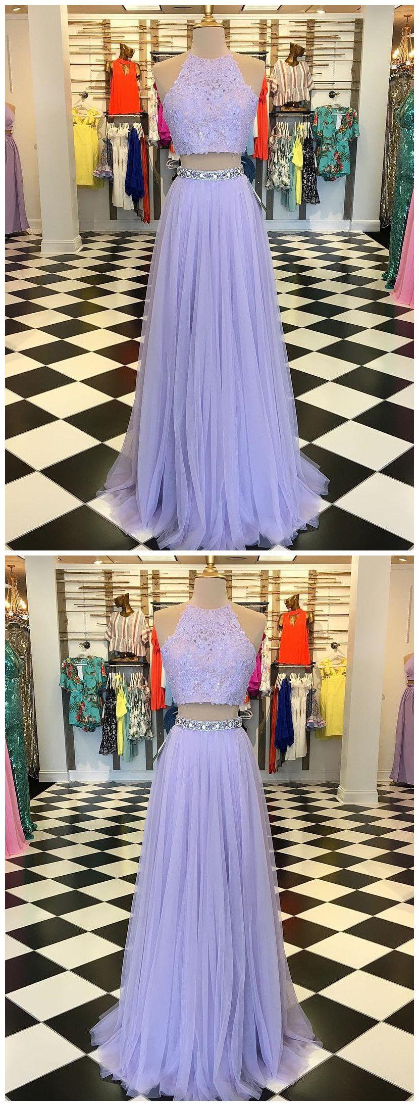 Two Pieces A Line Scoop Prom Dress Floor Length Lilac Prom Dresses Evening Dress Amy1620 Evening Dresses Prom Lilac Prom Dresses Two Piece Evening Dresses [ 2190 x 830 Pixel ]