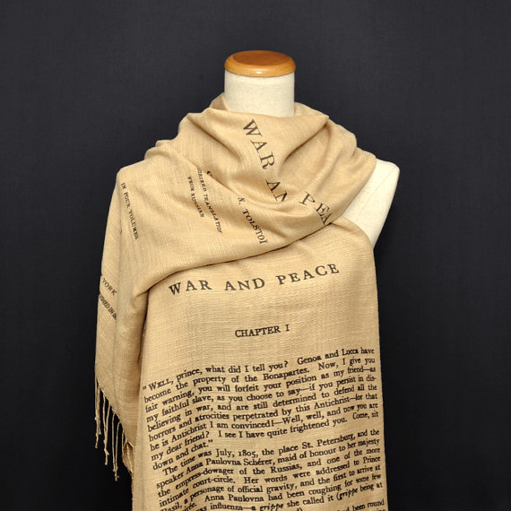 War and Peace by Leo Tolstoy shawl/scarf  english by UniversalZone