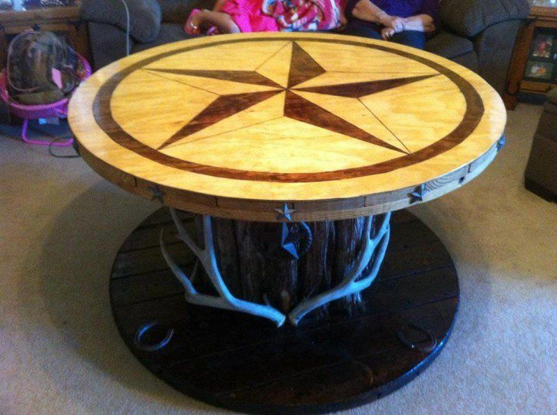 Repurposed Wire Spool Ideas - Cable Spool Coffee Table