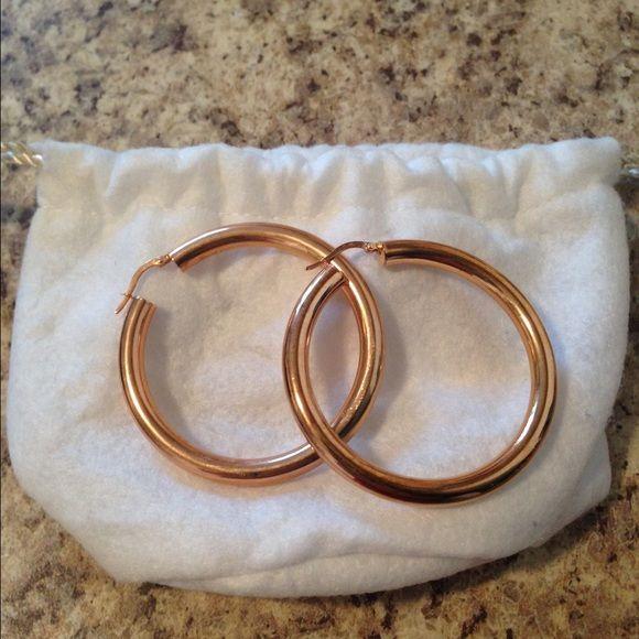 Bronzi Italia hoop earrings Beautiful bronze metal Bronzo Italia Accessories