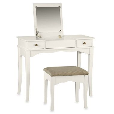 linon home kendal white vanity set bedbathandbeyond com bed bath rh pinterest com